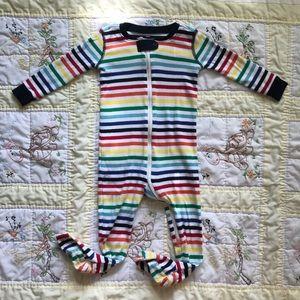 Primary Striped Footie Zipper Pjs